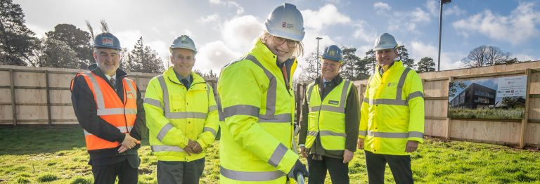 Turf cutting to signify the start of work on the Ada Lovelace building