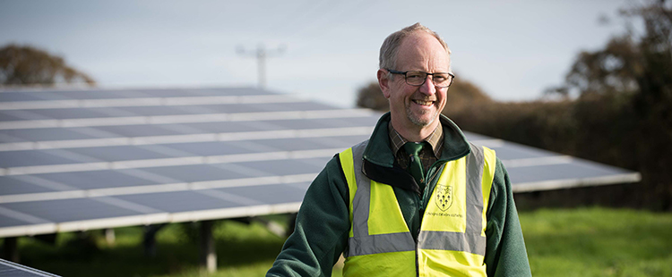 John Wilding from Clinton Devon Estates at Liverton Solar Park