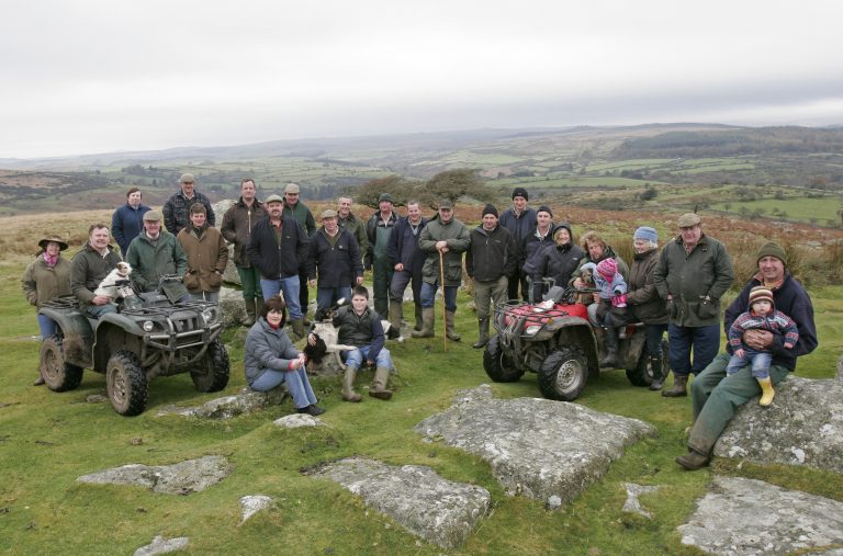 Group of farmers on Dartmoor