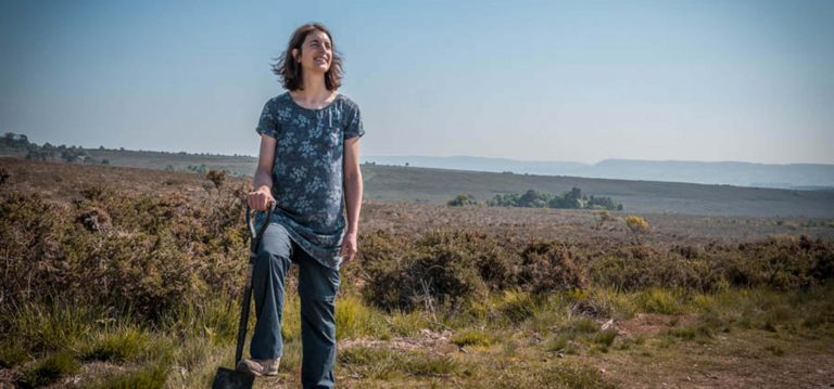 Dr Peterson, researcher at University of Exeter, on the East Devon Pebblebed Heaths