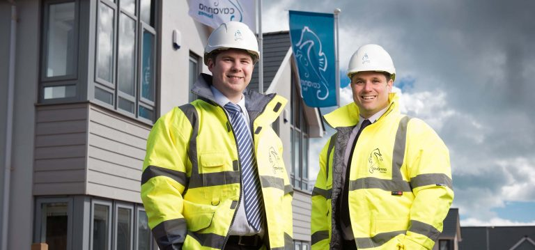 Mike Cavanna and Ben Rowntree of Cavanna Homes on site