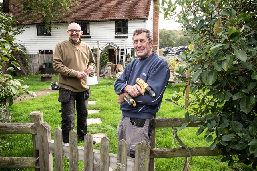 Mick Cheesman (right) who is retiring as Foreman of the Hadlow Estate after 50 years of service and replacing him is Gaven Thomas (left).